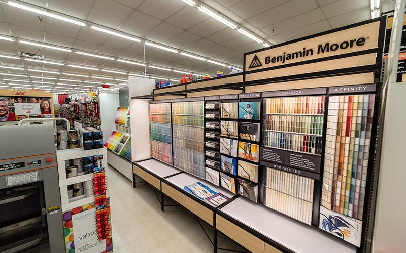 New Benjamin Moore Paint Display